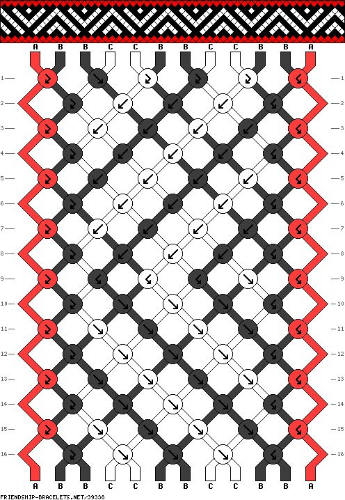 One of my favorite Friendship Bracelet patterns!
