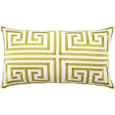 cushion: Trina Turk, Linens Pillows, Greek Keys, Keys Embroidered, Embroidered Pillows, Decor Pillows, Limes, Trinaturk, Keys Pillows