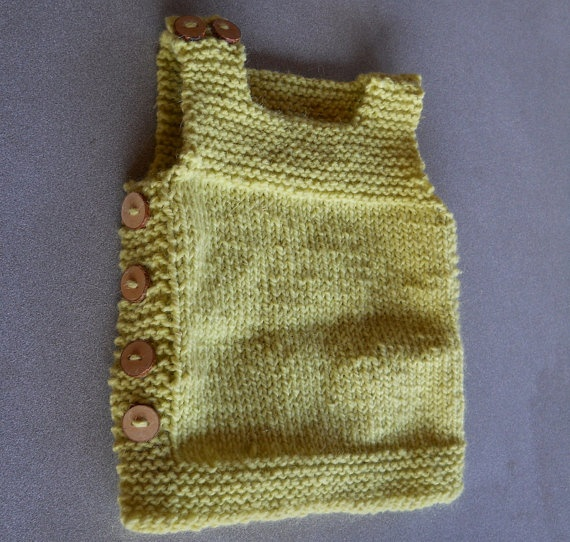 Baby Vest Knitting Pattern : Best images about knitting baby vest on pinterest