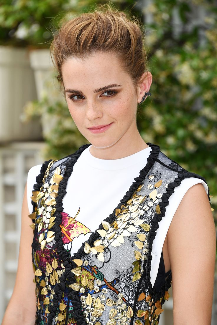 Emma Watson is a fan of eco-friendly sustainable looks, so when she wore a top made entirely of leftover fabric scraps, it wasn't that surprising. Check out the look here.