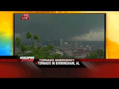 Coverage of the April 27, 2011 Birmingham, Alabama tornado as it happened on The Weather Channel.