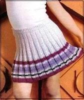 Вязаная юбка в складку для девочек