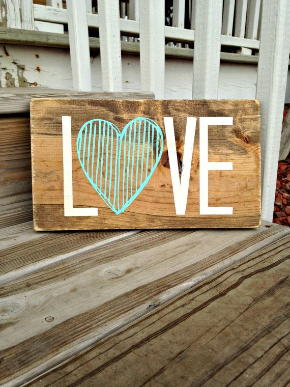Wood Love Sign Nursery Sign Wooden Love by WoodenThatBeSomethin