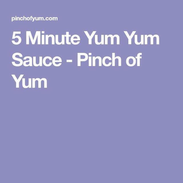 5 Minute Yum Yum Sauce - Pinch of Yum
