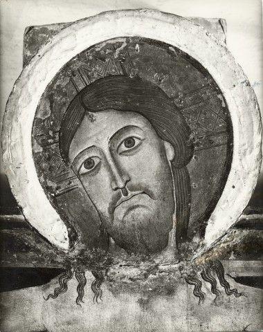 Garrison Edward B. , Anonimo fiorentino - sec. XII - Croce di Rosano: volto di Cristo - particolare