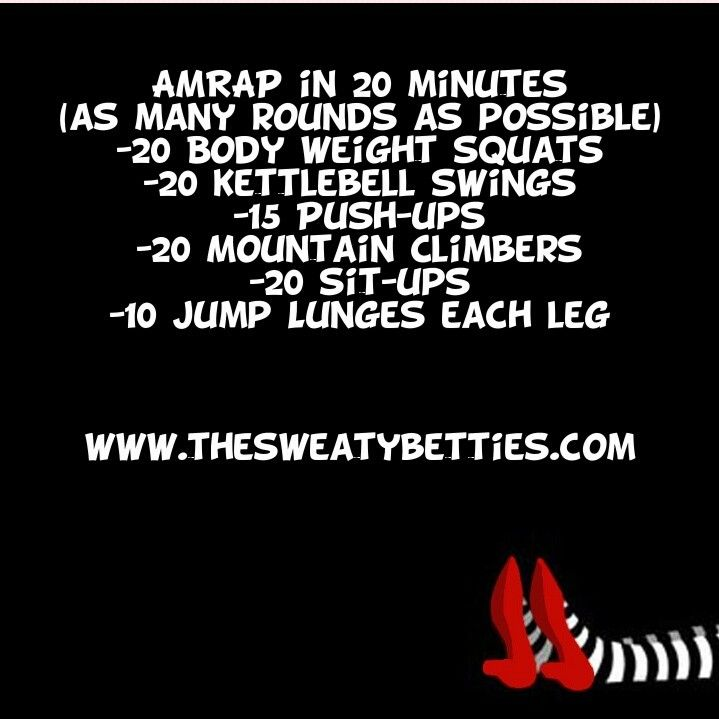 #AMRAP 20 min full body workout.  Only need a kettlebell.