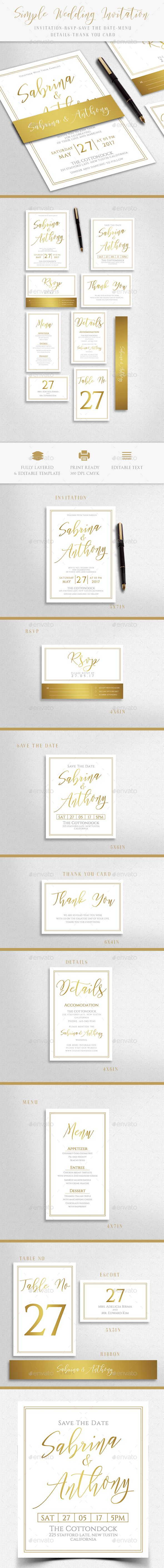 Wedding Invitation Wedding Invitation Card Template Simple Invitation Wedding Card Templates