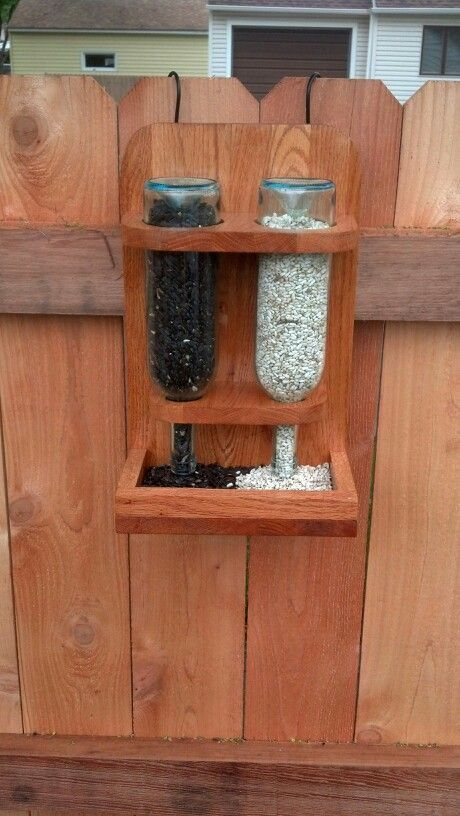 Wine bottle bird feeder | DIY Inspriation Now you know what to do with your leftover Missouri wine bottles!