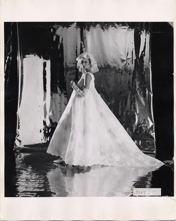 Priscilla of Boston wedding dress, 1967. Silver gelatin on paper. via @National Museum of American History, Smithsonian