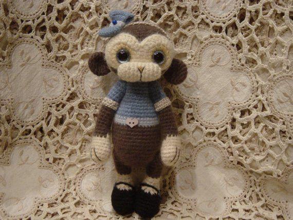 Marley OOAK crochet ThRead artist MoNkEy Bear by CrochetTeddyBears