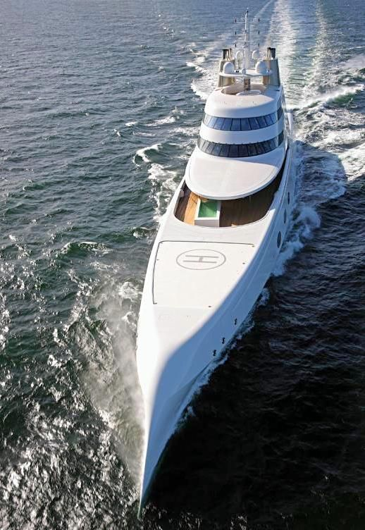 Russian billionaire Andrey Melnichenko's 394 foot yacht, designed by Philippe Starck, is making waves in the bays of Baja California