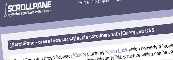 jScrollpane: cross browser styleable scrollbars with jQuery and CSS