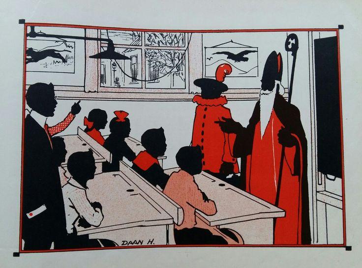 Sinterklaas bezoekt school