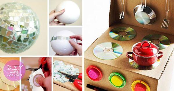 Buffet Aparador Grande ~ globo de cd como fazer Pesquisa Google Artesanato, reciclagem e decoraç u00e3o Pinterest