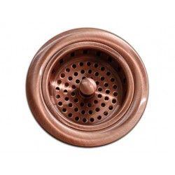 Kitchen Bar Sink Basket Strainer. Standard Drain Openings. Copper Finish.  http://www.emoderndecor.com/kitchen-bar-copper-sink-basket-strainer-3-5-inch.html
