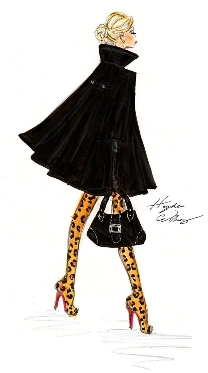 tagged as  illustration hayden williams boots high heels sketch animal print leopard print