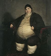 Daniel Lambert was a cherished member of his town Leichester,  England. He lived during the 1700's and became the largest man in recorded history at that time. In his youth he was extremely strong and athletic despite his growing size. Having a pleasant and refined personality he made many friends. He did not abuse alcohol and claimed not to eat unusually large amounts of food. So his weigh gain remains a bit of a mystery. When he died he weighed in at around 720 lbs.