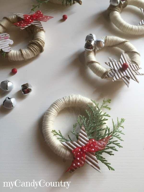 Ghirlande natalizie riciclando anelli delle tende