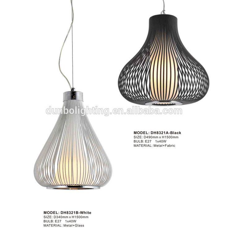 Moderne eetkamer meubels metalen vogelkooien hanger lamp bruiloft decoratie hanglamp