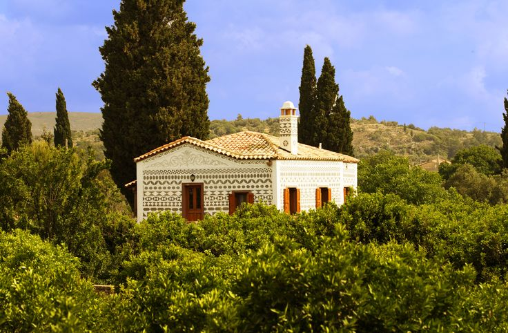 The gardens of Kambos in Chios from the Argentikon Hotel