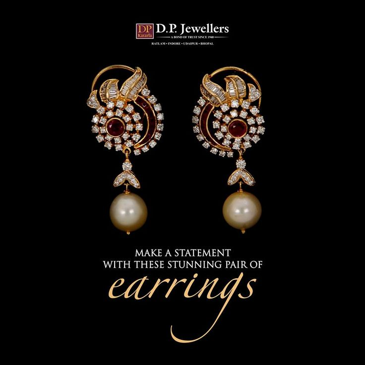 A classy touch to your attire with our beautiful earrings, and hog the limelight. #DPJewellers #Newcollection #Bangles #Rings #Earrings #WeddingJewellery