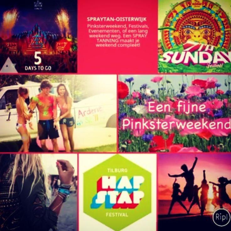 ➡➡➡Aankomend weekend PINKSTEREN met diverse festivals en evenementen! Boek snel je SPRAY TAN behandeling en geniet van een extra lang weekend. 💛💛💛 www.spraytan-oisterwijk.nl 💛💛💛  #pinksterweekend #festival #spraytanoisterwijk #schoonheidsspecialiste #vakantie #bruiloft #feest #schoonheid #beauty #specialist #zomer #zomervakantie #theflyingdutch #7thsundayfestival #hapenstap #weekend #gala #evenement #beurzen #whitetobrown #airbrush #wennysspraytanning
