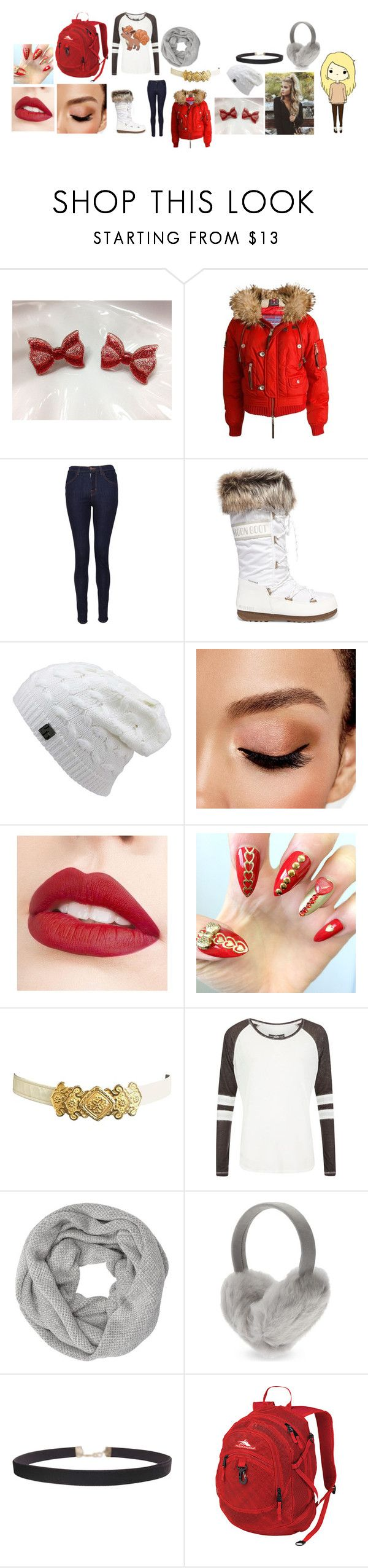 """""""Apple White Winter"""" by phoenix-fox ❤ liked on Polyvore featuring Dsquared2, J Brand, Moon Boot, Avon, Jouer, Superdry, John Lewis, Karl Donoghue, Humble Chic and High Sierra"""
