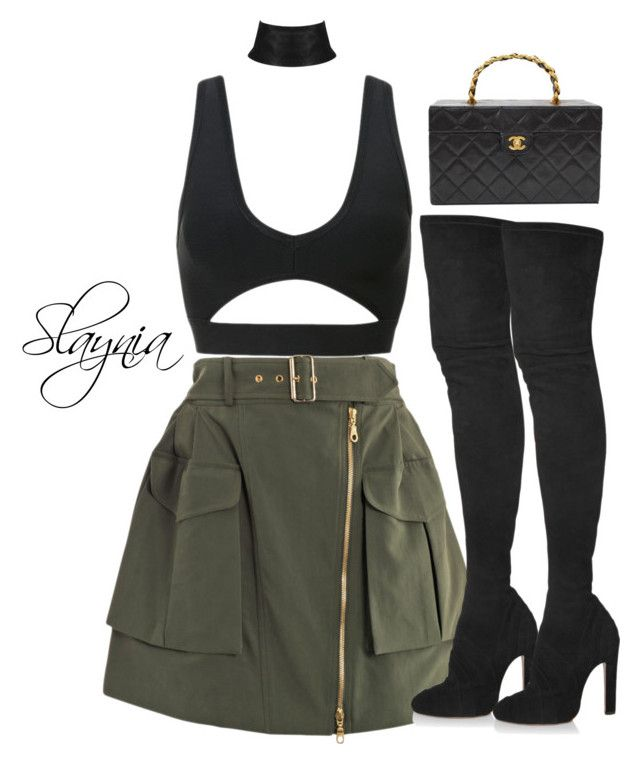 """Not Today , Not Ever"" by slaynia ❤ liked on Polyvore featuring Kenzo, Alaïa and Chanel"