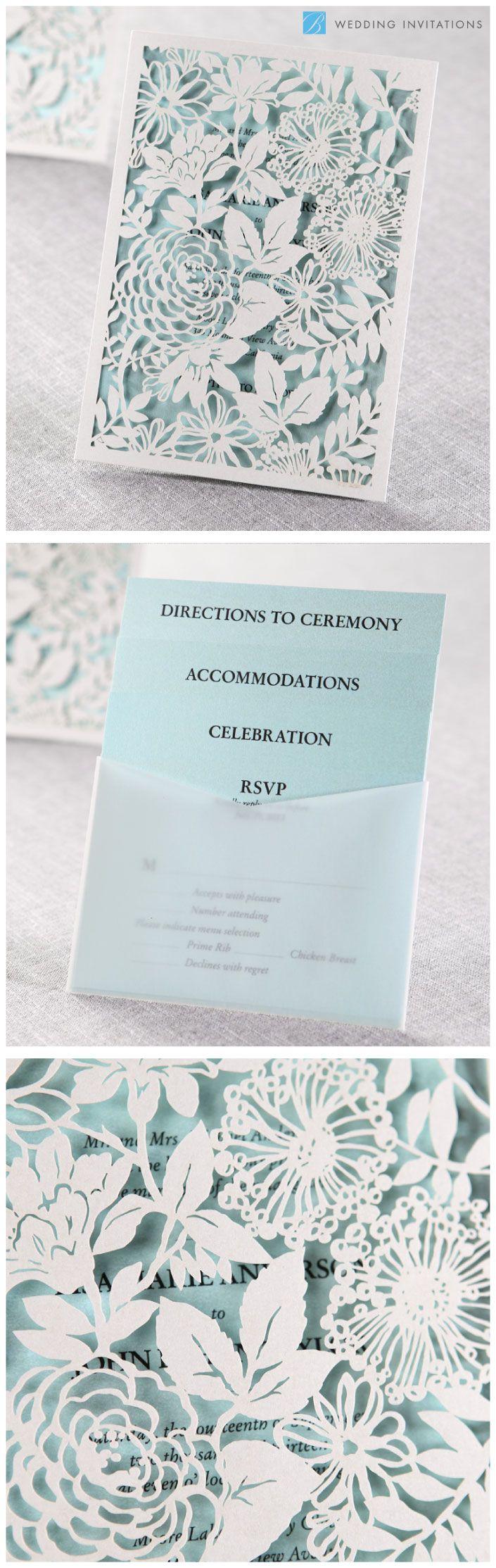 Magical Garden Invitation by B Wedding Invitations  #invitations  #wedding  #lasercut