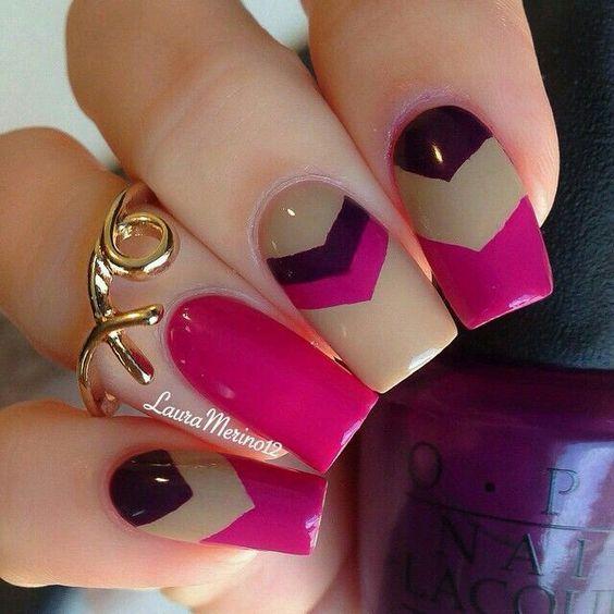 Diseños de uñas muy coloridas ideales para esta temporada