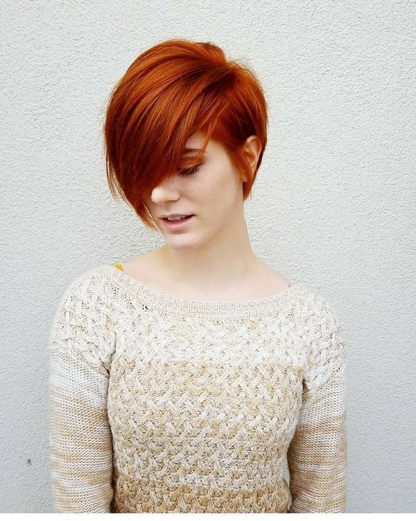 36 Cool Short Red Hairstyles And Haircuts October 2019 Short Red Hair Thick Hair Styles Short Hair Styles
