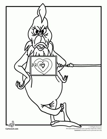The Grinch's Heart Grew 3 Sizes Coloring Page | Grinch ...