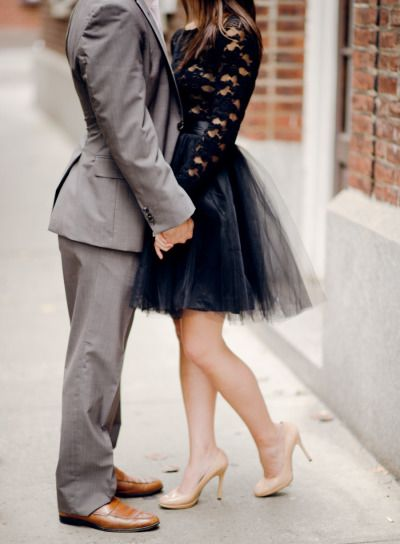 Obsessed with this engagement dress: http://www.stylemepretty.com/2013/12/20/new-york-city-engagement/ | Photography: Rebecca Yale - http://www.rebeccayaleportraits.com/