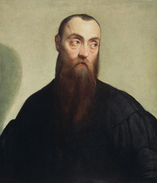 Jacopo Bassano - Portrait of a Bearded Man - art prints and posters