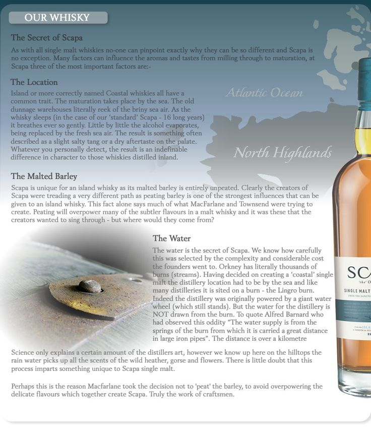 Scapa Whisky have opened a new visitor centre and are sponsoring the Festival.