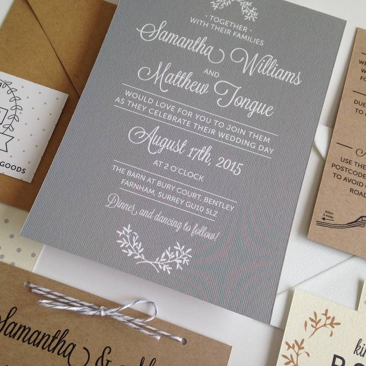 Rustic Wedding Evening Invitations