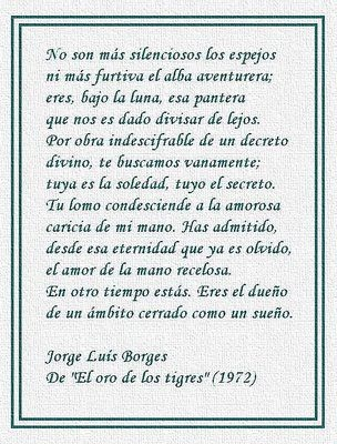 a description of jorge luis borges as a famous spanish author Jorge luis borges, writer: invasión  he began writing as a student, and when  in 1918 he settled in spain, it was as a  hombre de la esquina rosada writer.