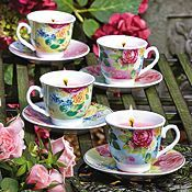 Fallen Fruits Set of 4 Mini Teacup & Saucer Candles