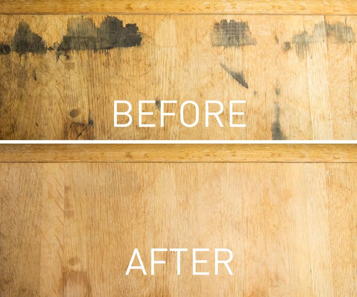 Removing Black Stains in Wood Furniture With Oxalic Acid (Barkeeper's Friend)