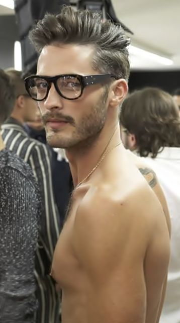 Hairstyles For Glasses Male : Pin by Dayle Bell on Hair ideas Pinterest