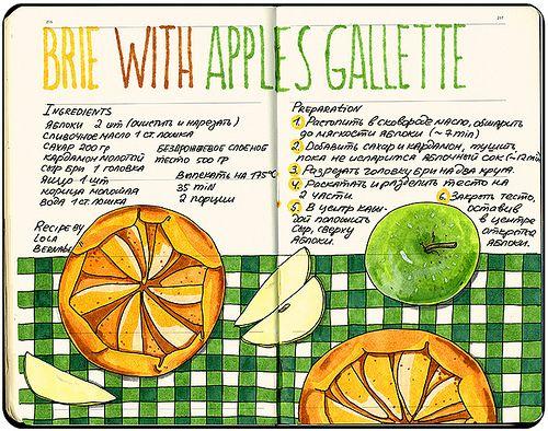 Яблочные галеты с сыром Бри — аппетитная закуска