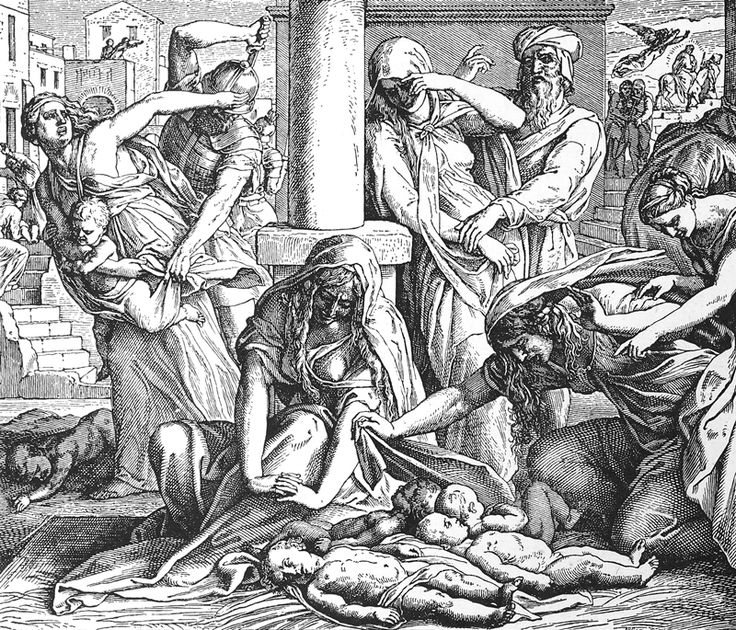Bilder der Bibel – Kindermord an Bethlehem – Julius Schnorr von Carolsfeld   – Bilblische Bilder und Zeichnungen