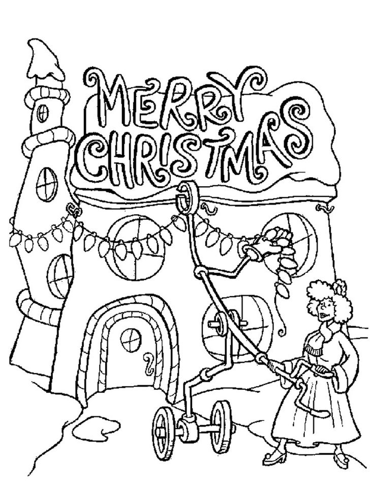 how the grinch stole christmas perfect good coloring sheet for kid