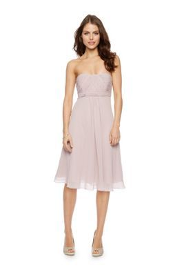 Jasmine Bandeau Midi Dress at debenhams.com