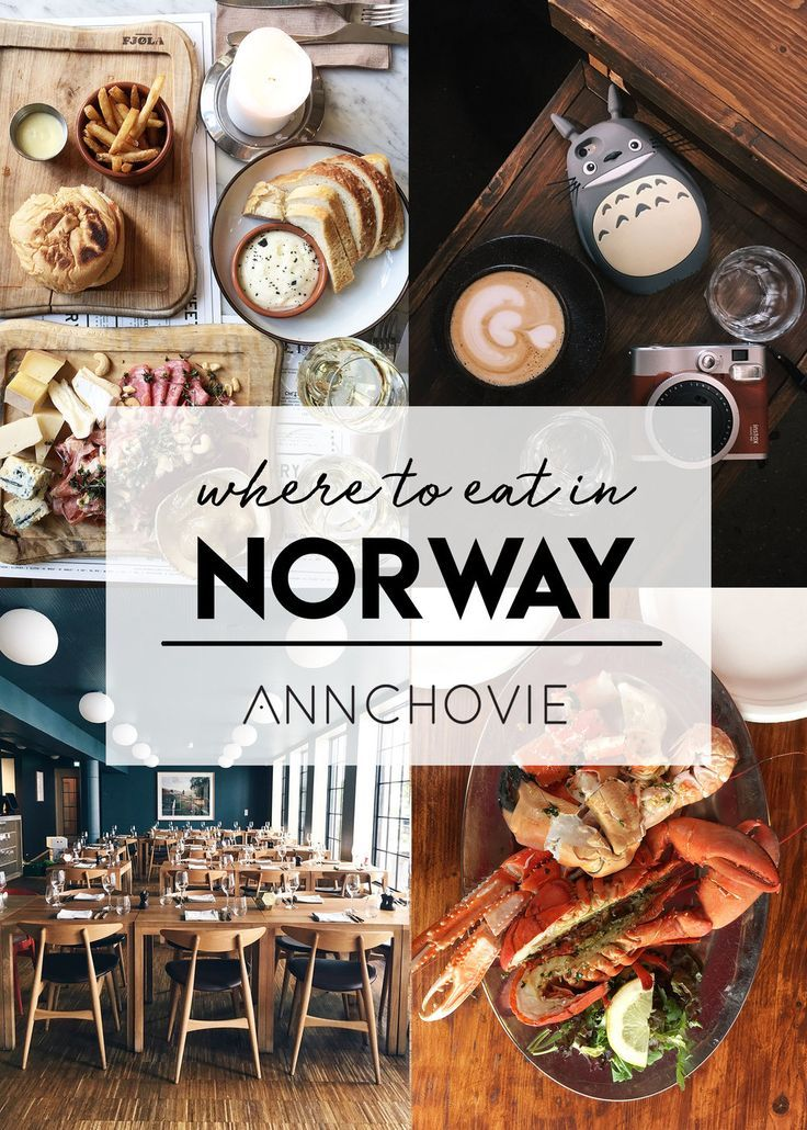 """If you love great coffee culture, fresh seafood, hearty stews, and fresh bread and cheese, check out my food guide """"Where to Eat in Norway,"""" now live on the blog! ❤️ It's sure to get you hungry and put a trip to Norway on your to do list! ✔️"""
