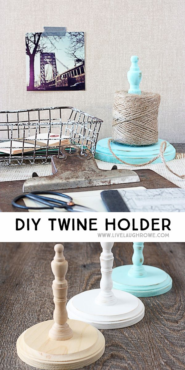 DIY Twine Holder. Great way to organize twine or string!