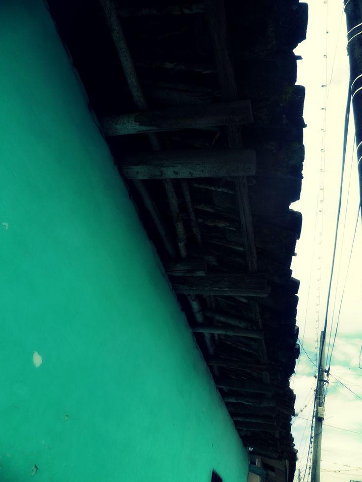 Arquitectura, Alero, Pared Azul, Valle del Cauca
