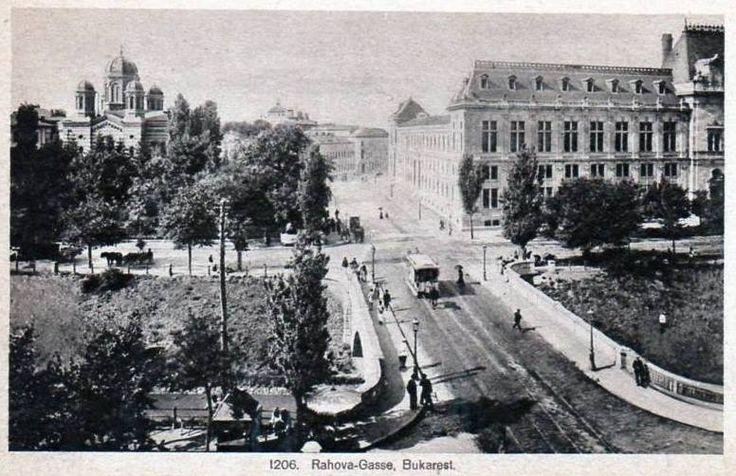 Palatul de Justiție și Biserica Domnița Bălașa pe Calea Rahovei cca. 1917