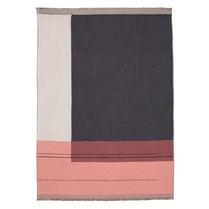 Colour Block Pledd 130x180cm, Rosa, Ferm Living