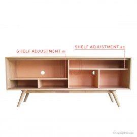 Buy Moody Retro Scandinavian Sideboard - Light Natural / White Online | Storage Solutions - Retrojan